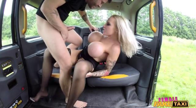 FemaleFakeTaxi – Blonde with massive tits loves cock – Sophie Anderson