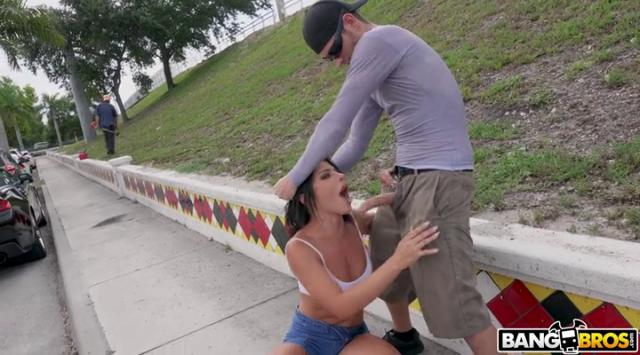 [PublicBang] Adriana Chechik – Adriana Squirts From Anal in Public