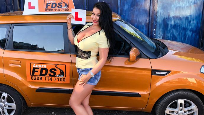FakeDrivingSchool – Big boobed Hungarian creampied – Anissa Jolie