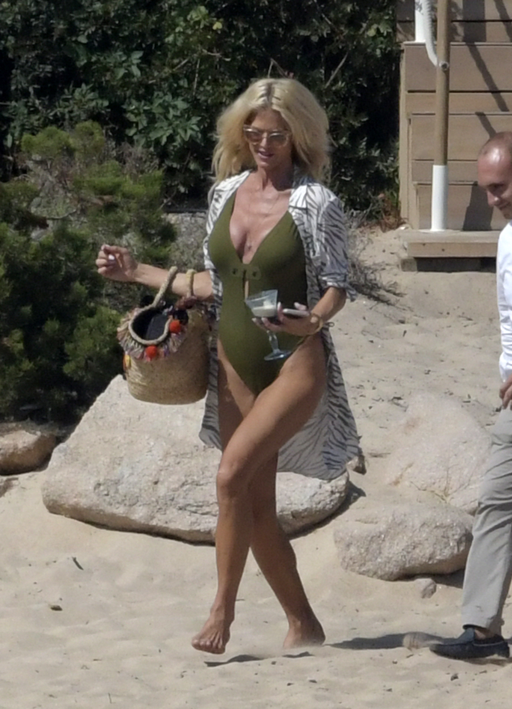 Victoria Silvstedt – On the beach in Sardinia 6 Aug, 2018